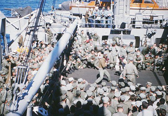 USA Korea-Krieg / Korea War – USMC United States Marine Corps 1st MARINE DIVISION - USS BEXAR