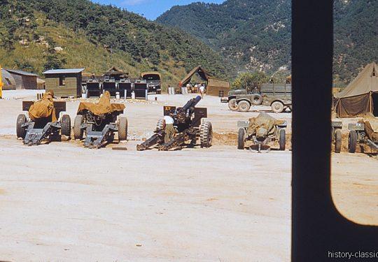 USA Korea-Krieg / Korean War - Schwere Feldhaubitze M114 - M1 155 mm / Heavy Howitzer M114 - M1 6.1 Inch