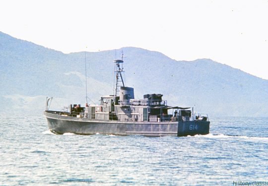 USA Vietnam-Krieg / Vietnam War - Süd Vietnam Motor Gunboat PGM - Song Tu HQ 614 - DA NANG