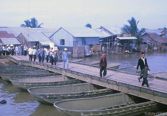 USA Vietnam-Krieg / Vietnam War – Reparierte Brücke / Temp Bridge - MEKONG DELTA