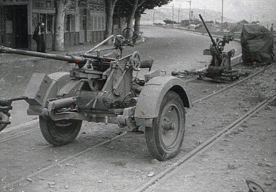 Wehrmacht Heer / Luftwaffe Flugabwehrkanone FLAK 30 2 cm / 20 mm - Aufgegeben und US-Kriegsbeute