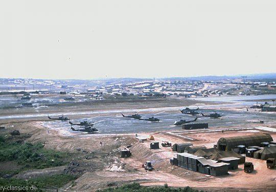 US ARMY / United States Army Bell UH-1C Gunship - Vietnam War CAMP ADAMS
