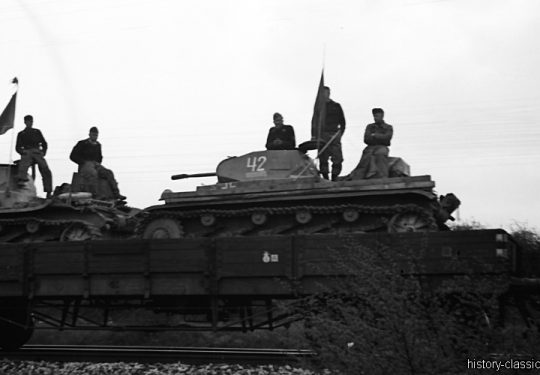 Deutsche Reichsbahn / Wehrmacht - Panzertransporte - Panzerkampfwagen II PzKpfw II Panzer II Ausf. C