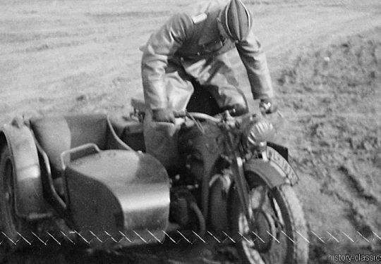 Wehrmacht Luftwaffe Motorradgespann Zündapp KS 750