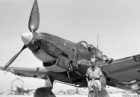 Wehrmacht Heer Deutsches Afrikakorps DAK / Heeresgruppe Afrika - Junkers Ju 87 der Luftwaffe