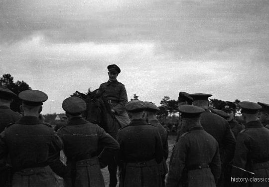 Wehrmacht Heer Armeepferde Reitpferde / Offizierspferde