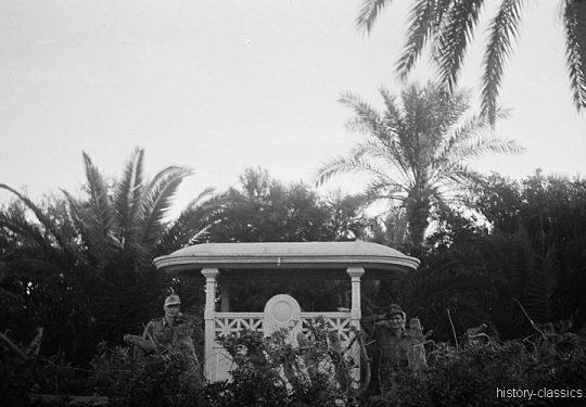 Wehrmacht Heer Deutsches Afrikakorps DAK / Heeresgruppe Afrika - Hinter der Frontlinie / Fronturlaub