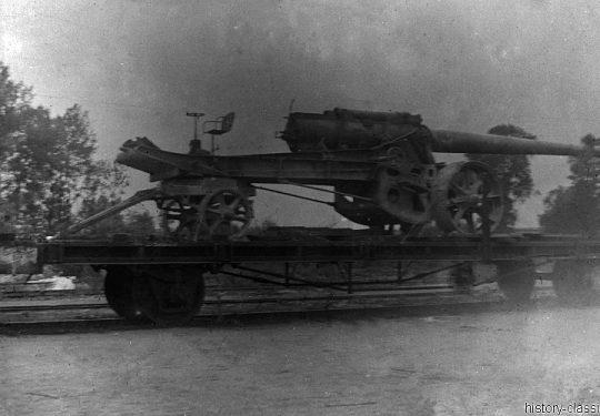 Wehrmacht Heer Schwere Feldhaubitze St. Chamond 155 mm Mle 1916 - Beutegeschütz in Kurland