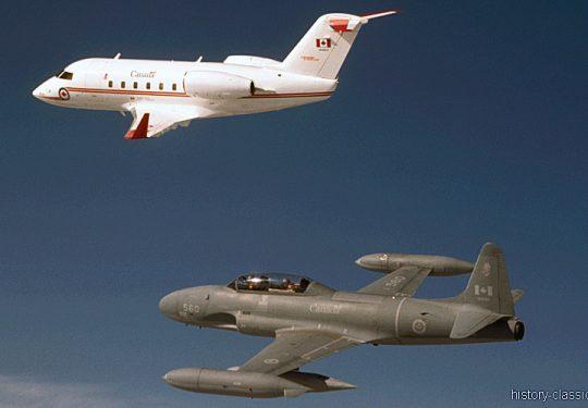 RCAF Royal Canadian Air Force Canadair CC-144 Challenger & Canadair CT-133 Silver Star
