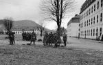 Wehrmacht Heer Ausbildung mit Gasmaske
