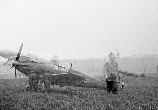 Wehrmacht Luftwaffe Messerschmitt Bf 109 - Doppel-Auslöser, keine Trickaufnahme