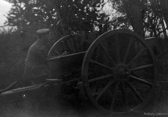 1. Weltkrieg Deutsches Heer - Artillerie Feldkanone 7,7 cm (Krupp)