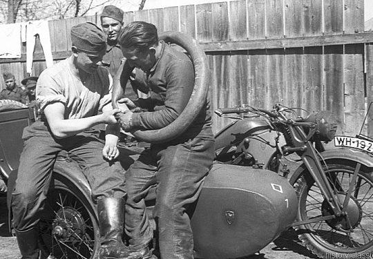 Wehrmacht Heer Motorradgespann Zündapp KS 750