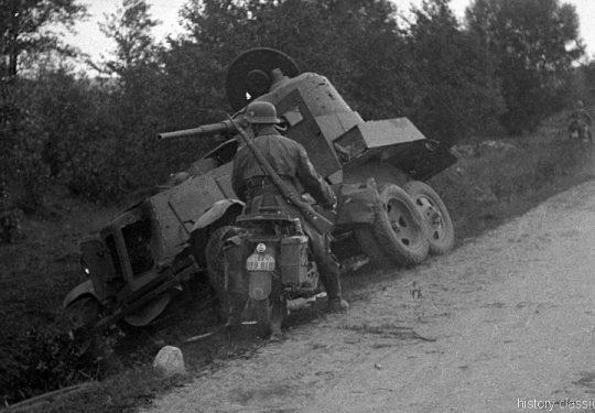 2. Weltkrieg Sowjetarmee / Rote Armee – Ostfront - Aufklärungpanzer BA-10