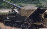 US ARMY / United States Army Selbstfahrlafette M40 155 mm / Gun Motor Carriage GMC M40 6.1 Inch - Korea-Krieg / Korean War