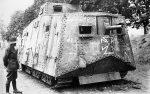1. Weltkrieg Deutsches Heer Sturmpanzerwagen A7V Tank A7V - Elfriede