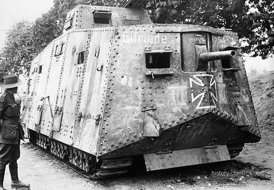 1. Weltkrieg Deutsches Heer Sturmpanzerwagen A7V Tank / A7V - Elfriede