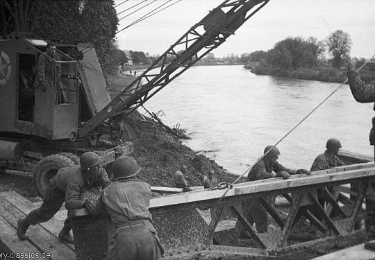 US ARMY / United States Army Pioniere / Versorgung - 2. Weltkrieg USA Europa