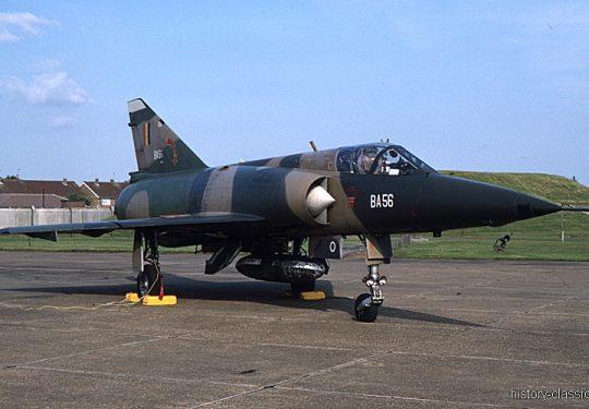 Belgische Luftwaffe / Belgian Air Force Dassault Mirage 5BA