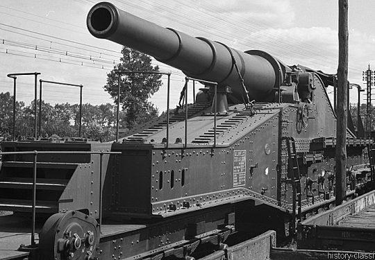 Wehrmacht Heer Beute Eisenbahngeschütz Schneider Mle 1870 320 mm / 32 cm