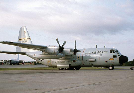 USAF United States Air Force Lockheed WC-130E Hercules