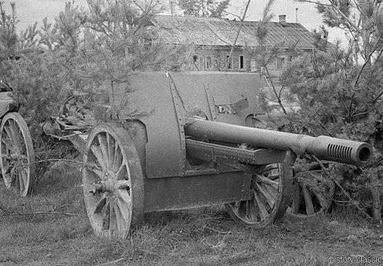 Wehrmacht Heer Leichte Feldhaubitze K 352 10,7 cm / 107 mm - Ex Sowjetische Feldhaubitze M1910/30