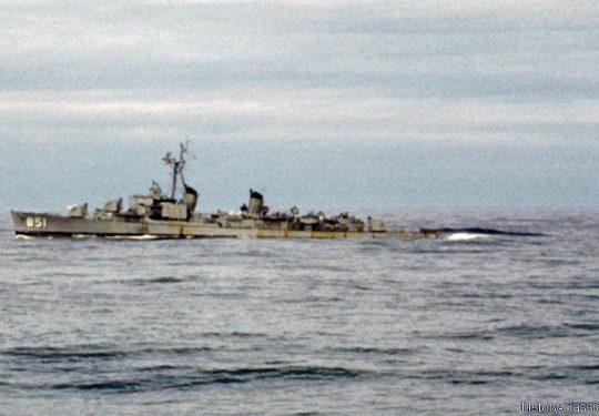 US NAVY / United States Navy Zerstörer Fletcher-Klasse / Destroyer Fletcher-Class - Korea-Krieg / Korea War