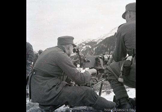 Wehrmacht Heer Maschinengewehr MG 08 & Ausbildung Gebirgsjäger