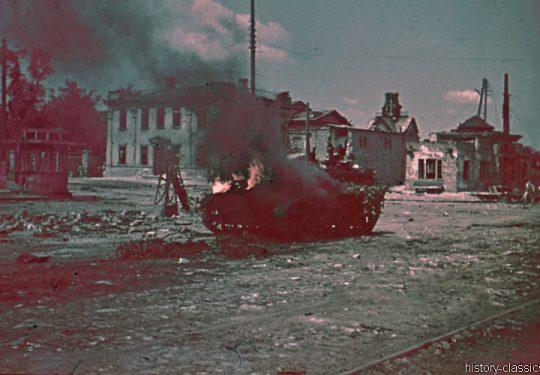 2. Weltkrieg Wehrmacht Heer – Farbfotos von der Ostfront - Panzer / Tank T-40