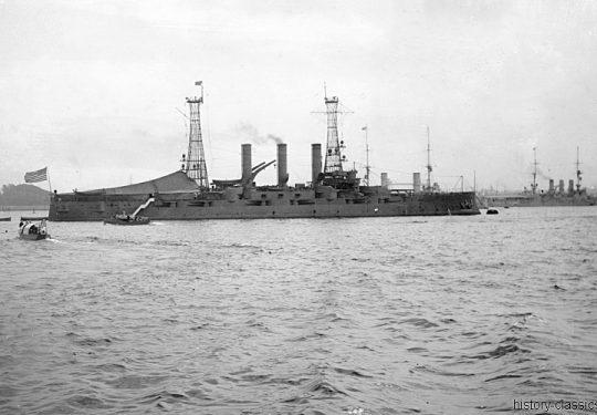 US NAVY / United States Navy Schlachtschiff Connecticut-Klasse / Battleship Connecticut Class – USS Connecticut BB-18