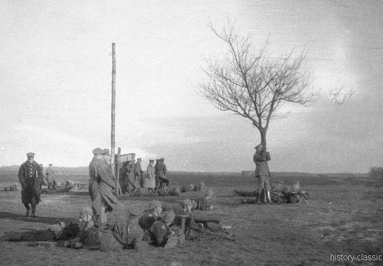 1. Weltkrieg Deutsches Heer - Stellungskriege - Ausbildung mit Maschinengewehr MG 08