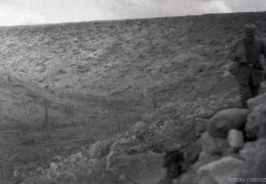 1. Weltkrieg Deutsches Heer - Stellungskriege - Nach einem Trommelfeuer
