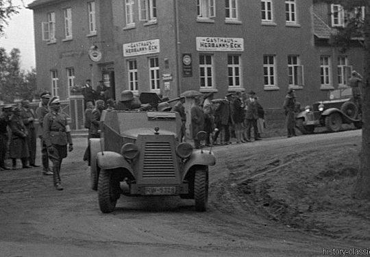 Reichswehr Heer Panzerspähwagen Kfz 13 - Münster 1935