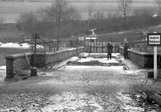 2. Weltkrieg Wehrmacht Europa – Reichsgrenze / Genzübergang