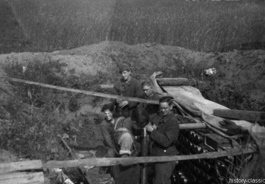Wehrmacht Heer / Luftwaffe Flugabwehrkanone FLAK 36/37 8,8 cm / 88 mm Flakstellung Frankfurt am Main Preungesheim
