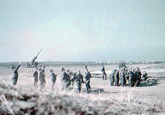 Wehrmacht Heer / Luftwaffe Flugabwehrkanone FLAK 18 8,8 cm / 88 mm Flakstellung Belgien