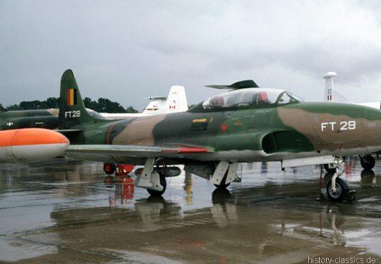 Belgische Luftwaffe / Belgian Air Force Fouga Lockheed T-33 Shooting Star