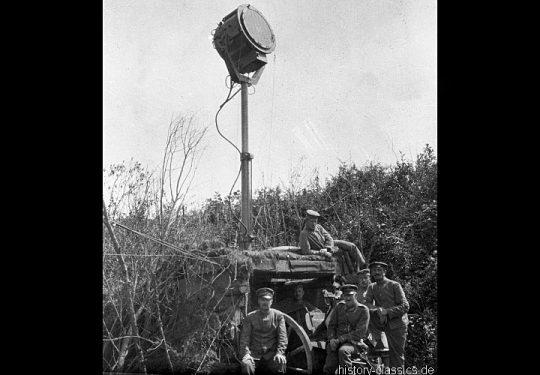 1. Weltkrieg Deutsches Heer - Artillerie Scheinwerfer