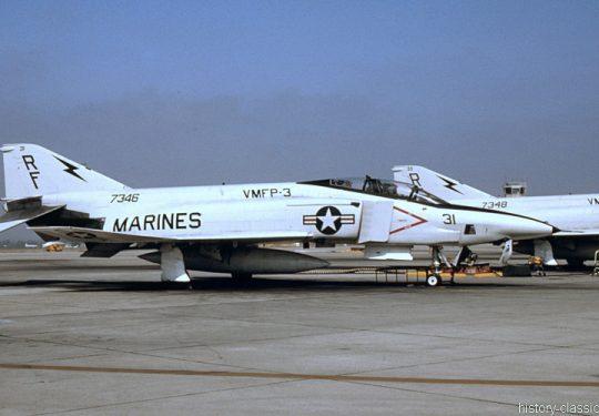 USMC United States Marine Corps McDonnell Douglas RF-4B Phantom II