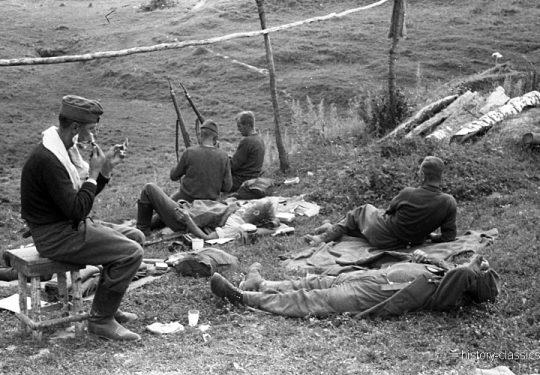 2. Weltkrieg Wehrmacht Heer – Vormarsch im tiefen Niemandsland der Ostfront