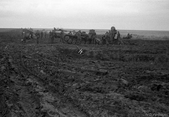 2. Weltkrieg Wehrmacht Heer – Schlammig im Niemandsland der Ostfront - Panzerjäger Marder II