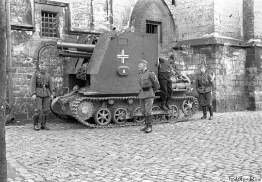Wehrmacht Heer Sturmpanzer I / Bison I mit sIG 33 - Einmarsch und Besetzung Frankreich