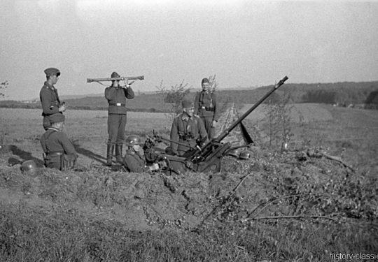 2. Weltkrieg Wehrmacht Europa – Übung mit der Flak 30 vor dem Einmarsch und Besetzung Frankreich
