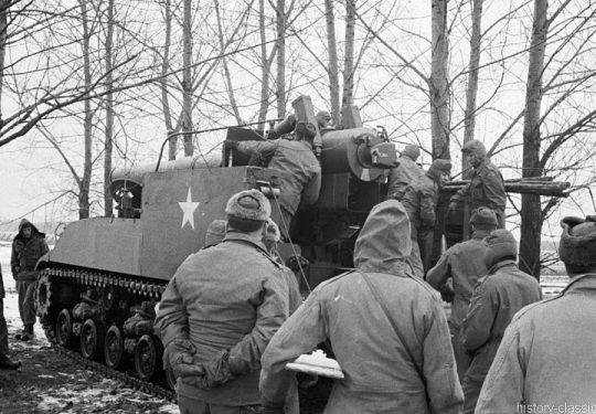 US ARMY / United States Army Selbstfahrlafette  M43 203 mm / Gun Motor Carriage GMC M43 8 Inch