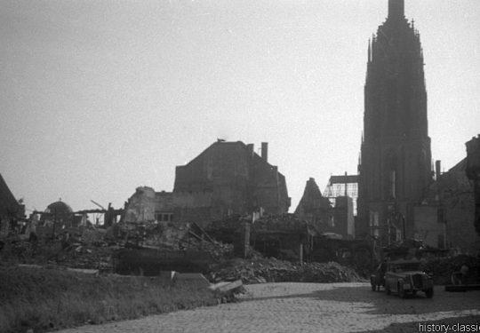 Ruinen und Wiederaufbau Frankfurt am Main 1945 bis 1949 - Frankfurter Dom