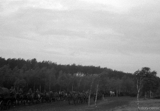 Wehrmacht Heer Armeepferde Pferdegespanne - Artillerie