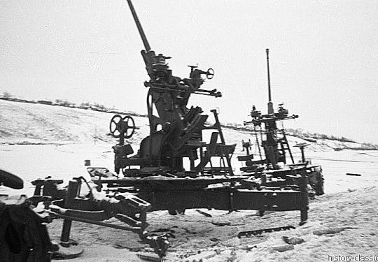 2. Weltkrieg Sowjetarmee / Rote Armee – Ostfront - Flak BOFORS 40 mm / 40mm
