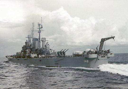 US NAVY / United States Navy Schwerer Kreuzer Des Moines-Klasse / Heavy Cruisers Des Moines-Class - USS Newport News CA-148