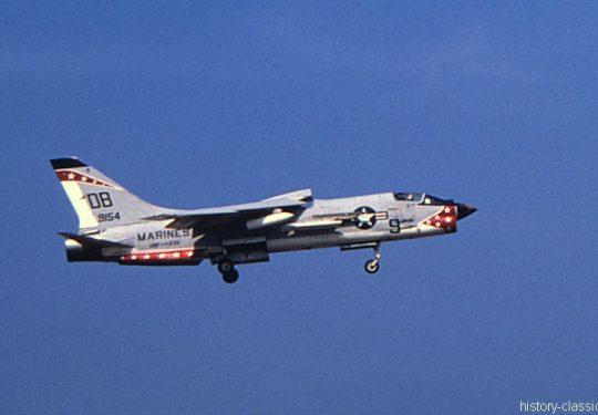 USMC United States Marine Corps Vought F-8U Crusader - USA Vietnam-Krieg / Vietnam War Da Nang