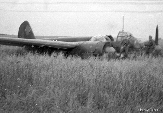 Wehrmacht Luftwaffe Junkers Ju 88 - Bruchlandung